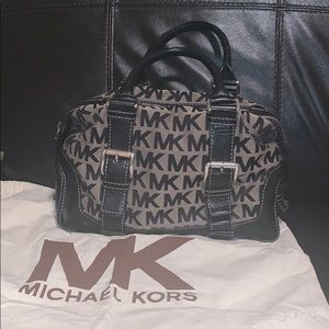 Michael Kors canvas & leather satchel!